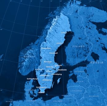 Karte von Schweden Nordeuropa