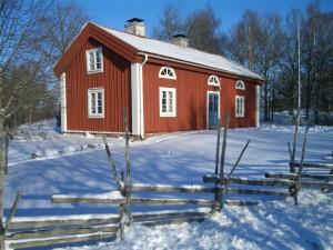 Schweden Holzhaus - Stuga in Falunrot (faluröd)