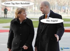 Hej Sweden - Angela Merkel, Fredrik Reinfeldt, Photo: BundesregierungOnline / Guido Bergmann
