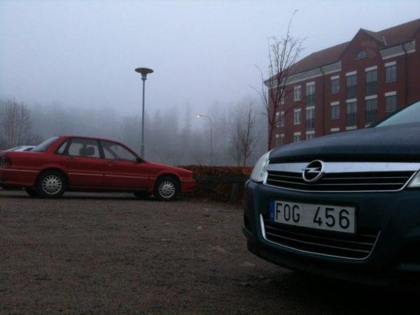 Swedish number plate