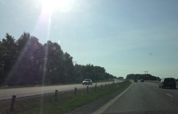 Drahtseil statt Leitplanke - schwedische Autobahn
