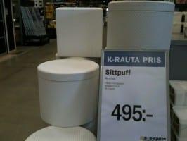 Schreibweise Preise in Schweden