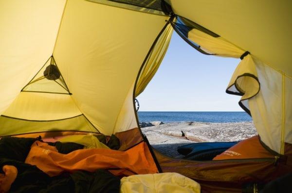Jedermannsrecht in Schweden, Zelt