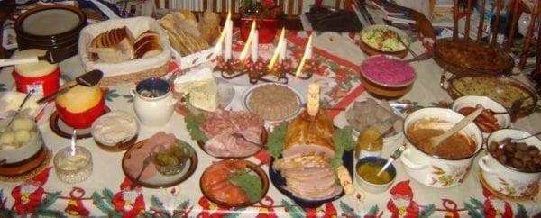 Julbord Weihnachtsessen in Schweden