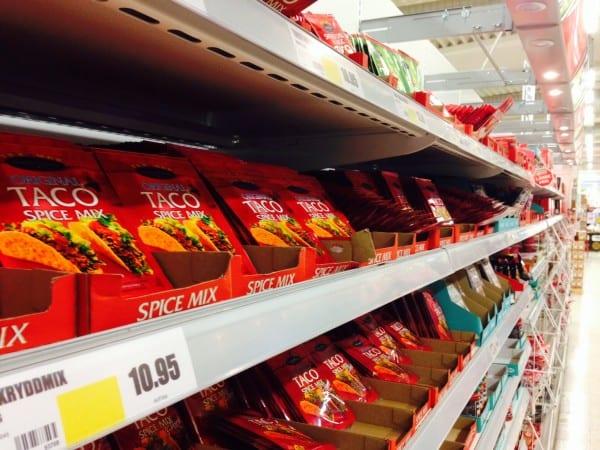 Taco Mix im schwedischen Lebensmittelgeschäft