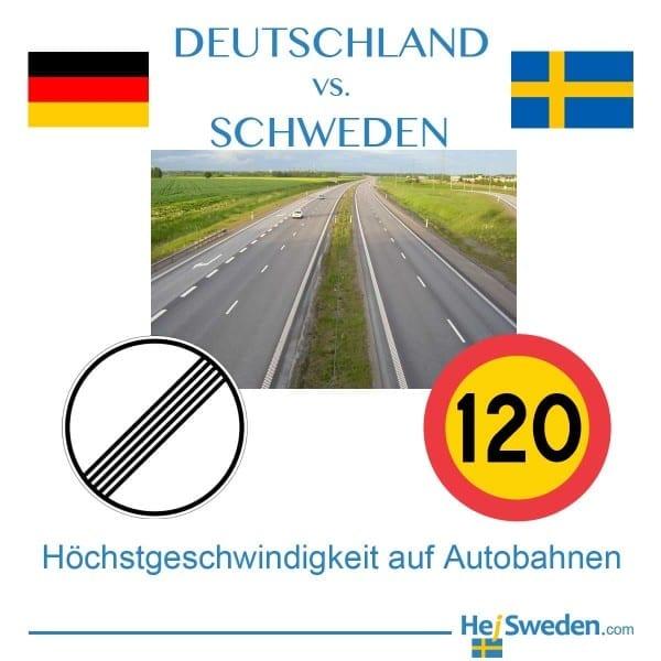 Autobahn Schweden Höchstgeschwindigkeit Tempo
