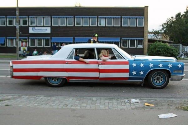Raggare in Schweden amerikanische Autos