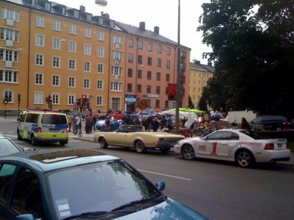Raggare in Schweden und Polizei