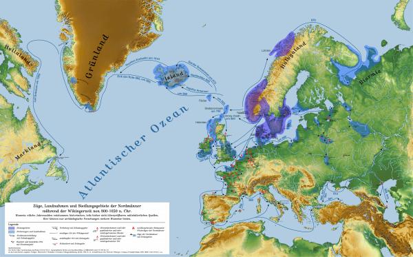 Vikingar Wikinger in Schweden Karte
