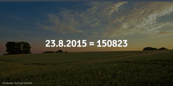 schwedisches Datum Schreibweise