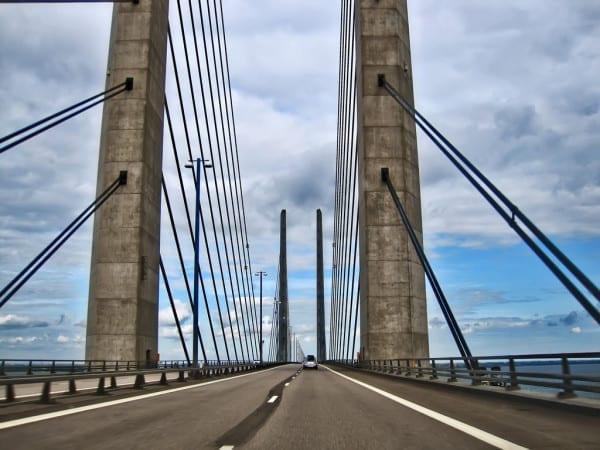 Autofahrt nach Schweden Öresund