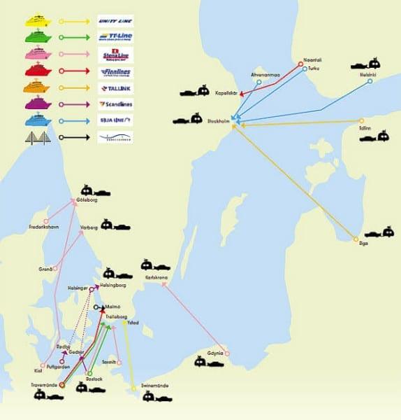Mit dem Auto nach Schweden - Fähren nach Schweden