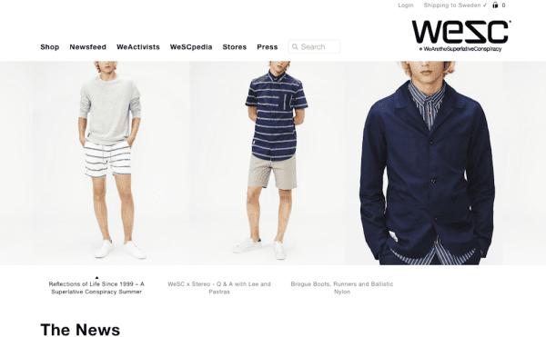 WeSC Schwedische Mode Marken