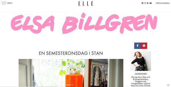 Elsa Billgren Schwedische Modeblogs