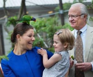 Kronprinzessin Victoria, Prinzessin Estelle und König Carl XVI Gustaf