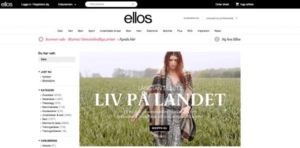 Online Shop Schweden-Mode Ellos