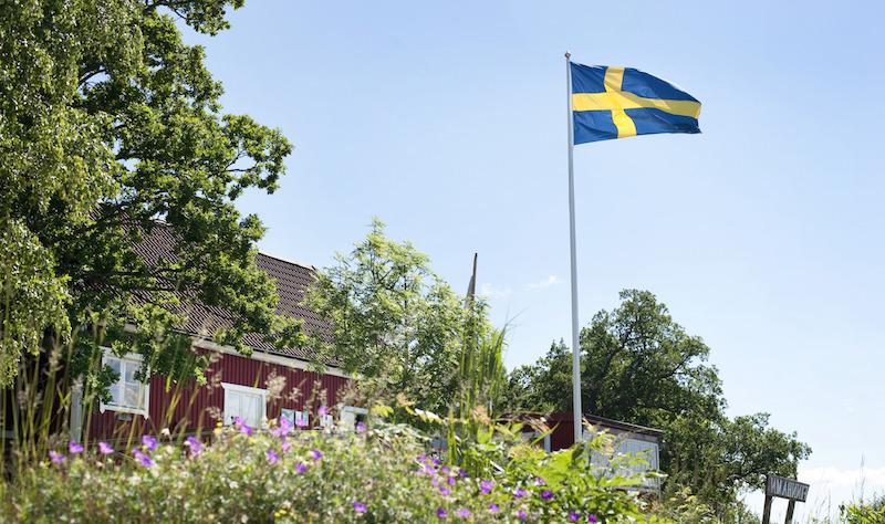 Schwedische Flagge Schweden