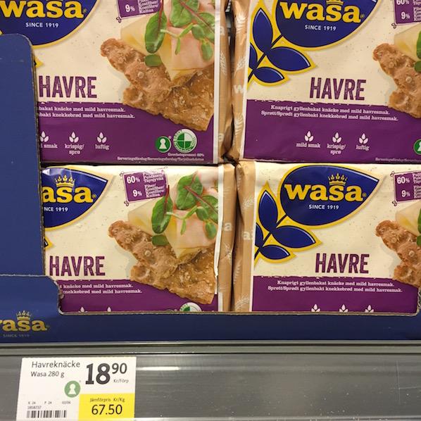 Schweden Lebensmittelpreise Knäckebrot