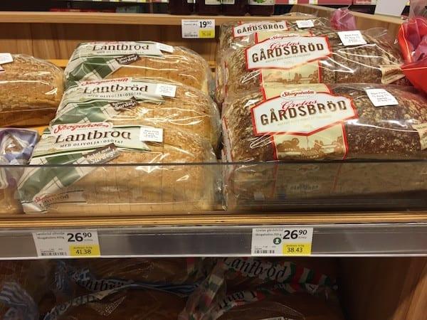 Schweden Lebensmittelpreise Brot
