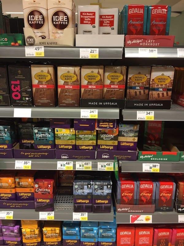 Schweden Lebensmittelpreise Kaffee