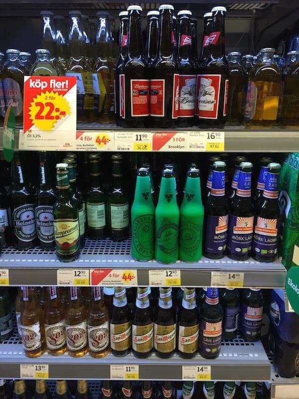 Schweden Lebensmittelpreise Bier