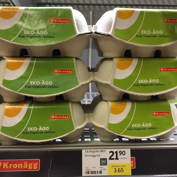 Schweden Lebensmittelpreise Eier