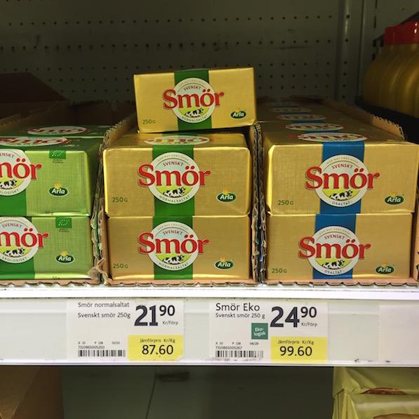 Schweden Lebensmittelpreise Butter