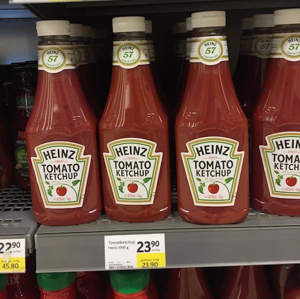 Schweden Lebensmittelpreise Ketchup