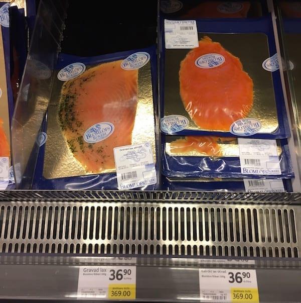 Schweden Lebensmittelpreise Räucherlachs