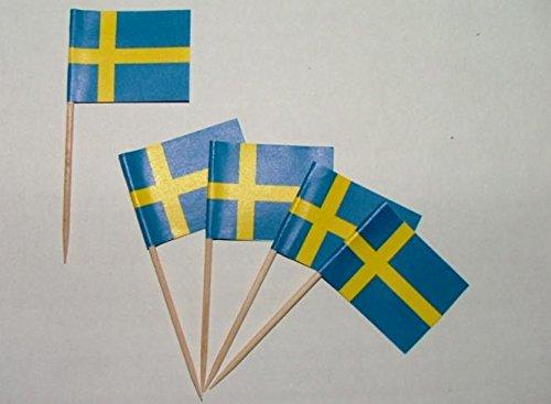 Zahnstocher Schweden Fahne