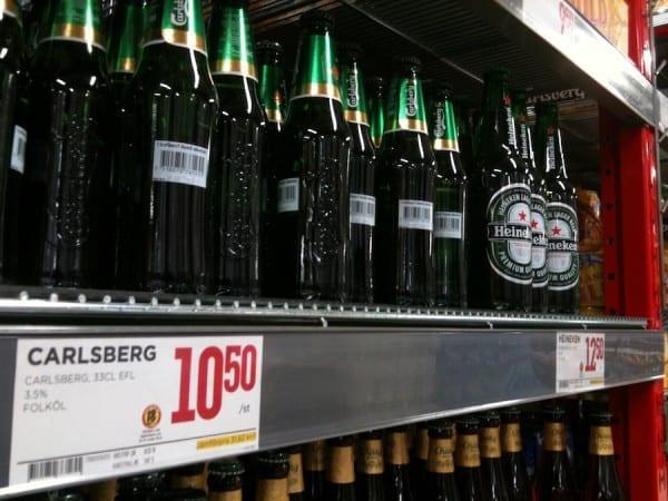 Bier im schwedischen Supermarkt