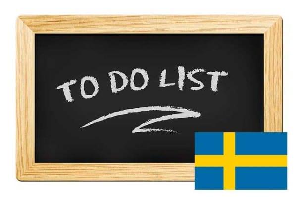 To-do-List Schweden-Urlaub