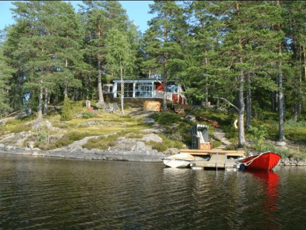 Ferienhaus am See mit Steg