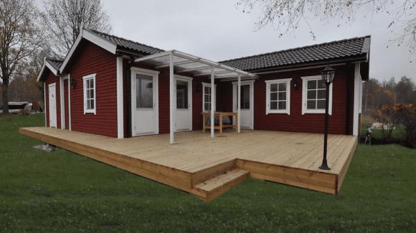 Ferienhaus am See mit Himmelbett