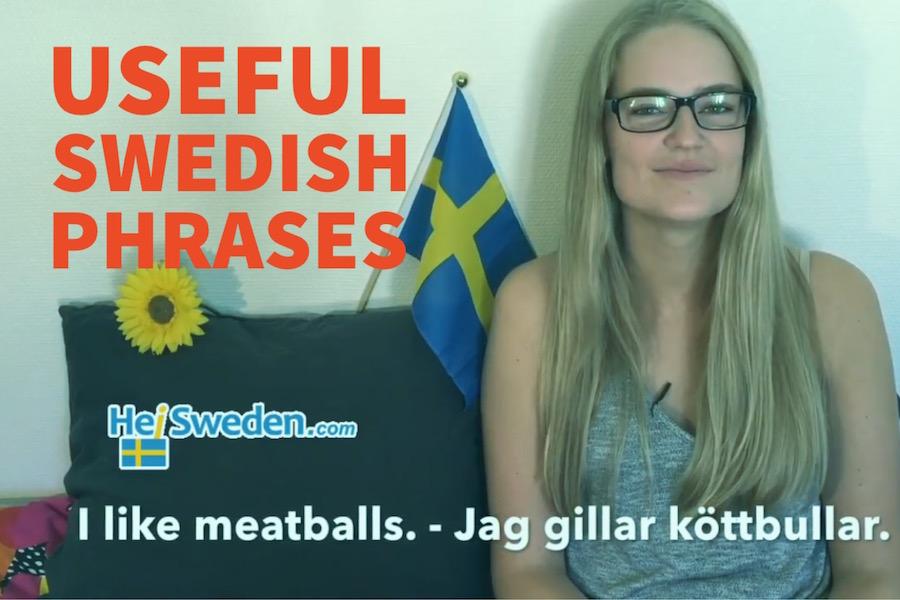 Schwedische Wörter und Sätze für den Urlaub
