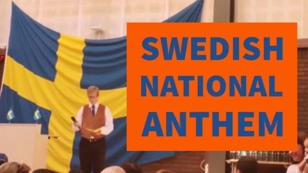 Swedish National Anthem Lyrics Swedish English