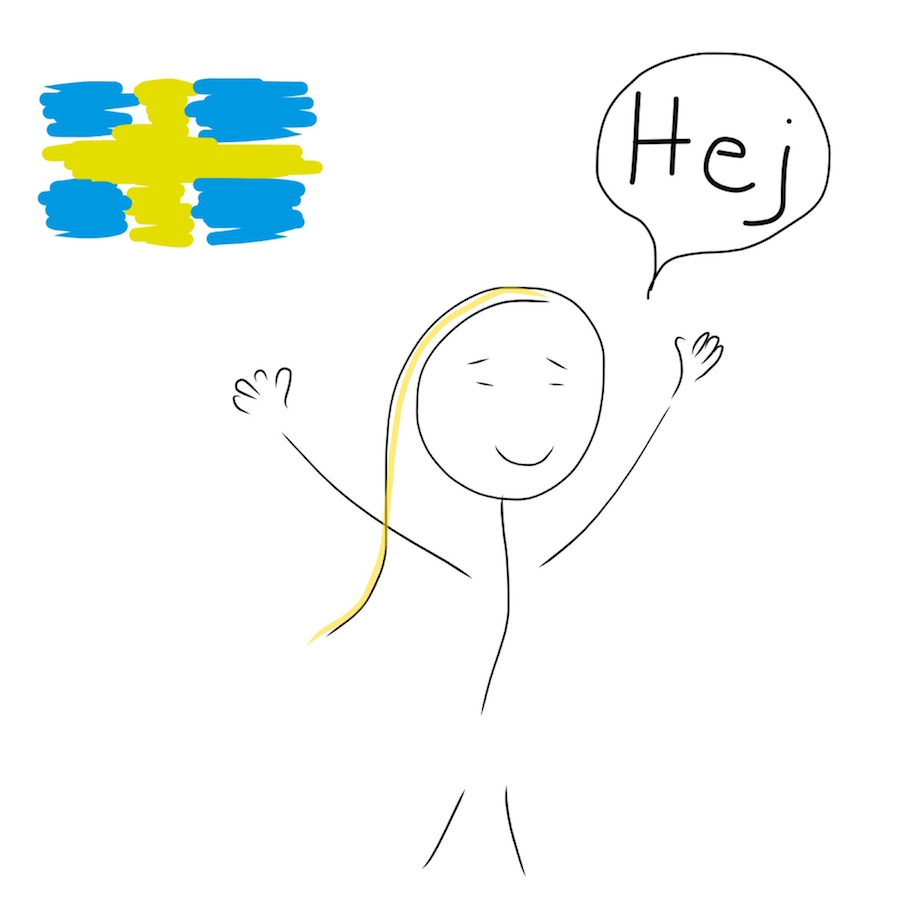 Swedish for hello - hej