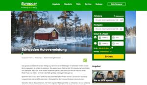 Autovermietung Schweden