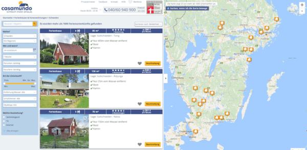 Ferienhaus in Schweden buchen Casamundo
