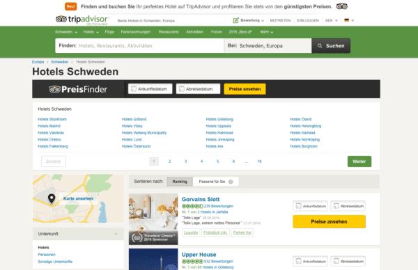 Hotels in Schweden tripadvisor
