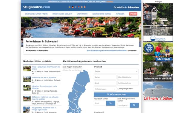Schweden Fereinhaus Anbieter Stugknuten