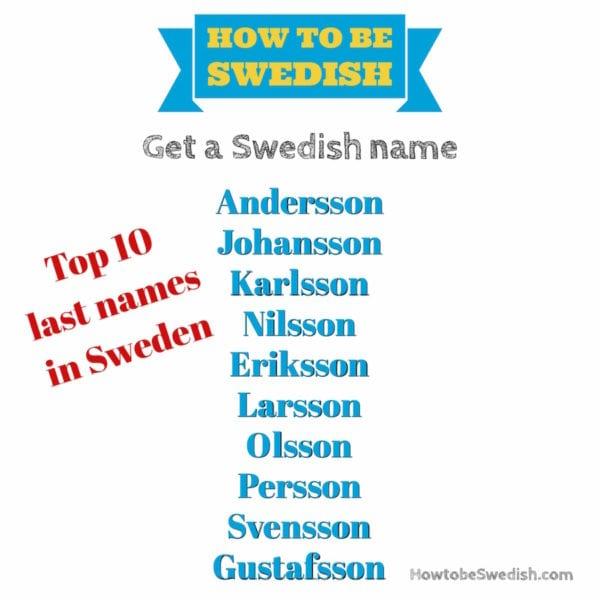 Swedish last names - How to be Swedish