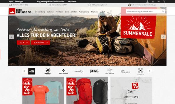 Bergfreunde.de - Outdoor Shops