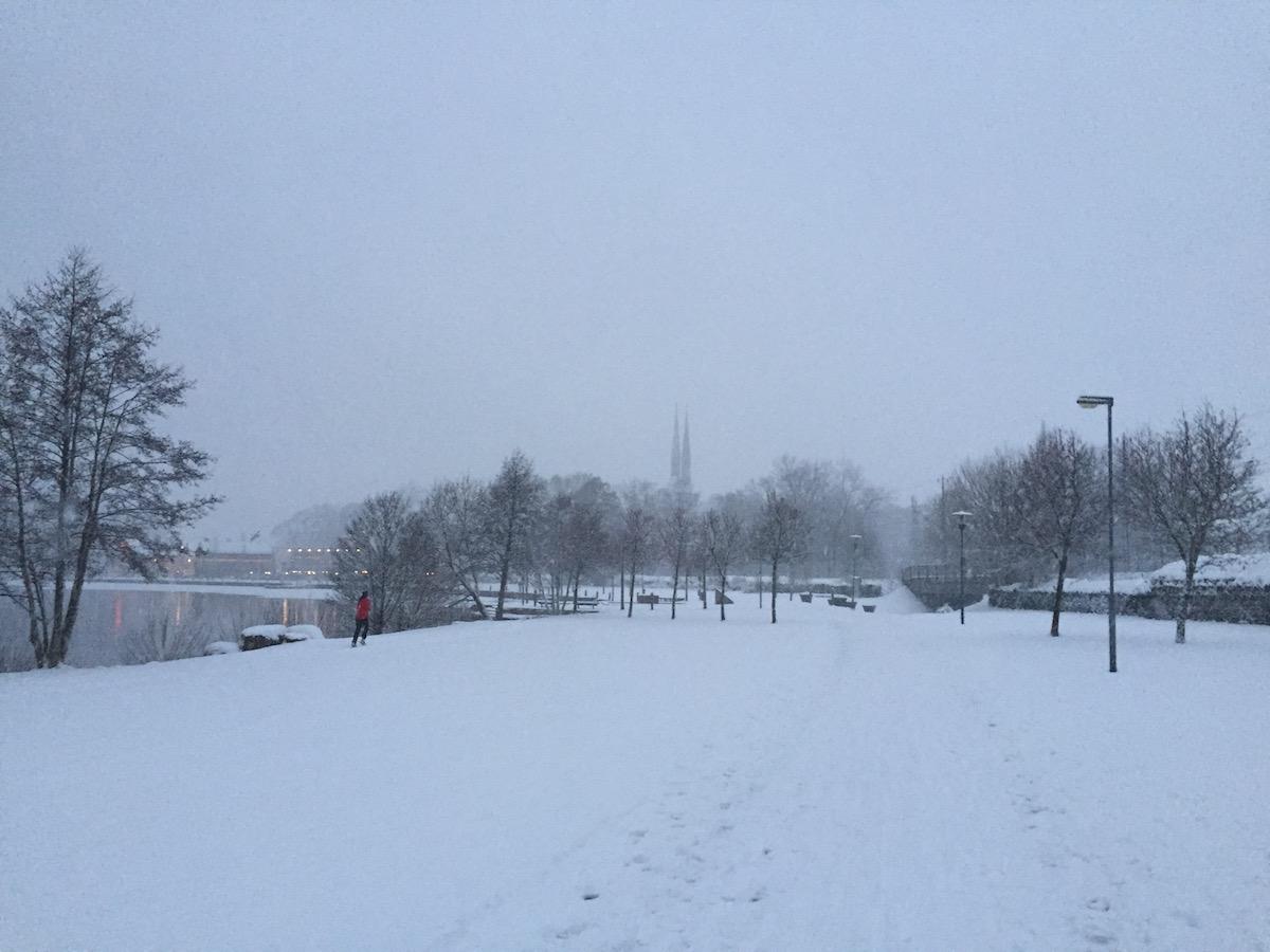 Winter in Växjö, Sweden