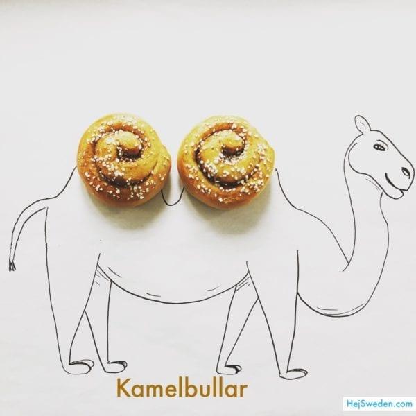 Swedish kamelbullar (camel buns)